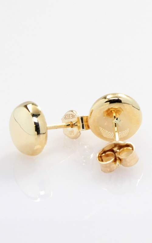 14K Yellow Gold Button Stud Earrings product image