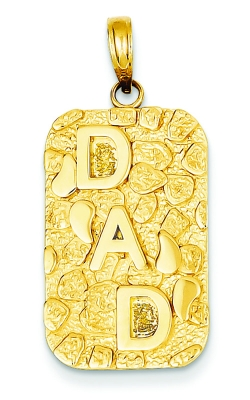 14K Yellow Gold Nugget Dad Dog Tag, Style #K4733 product image