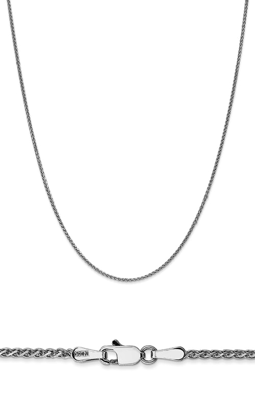 14K 1.4mm Solid Diamond Cut Spiga Wheat Chain product image