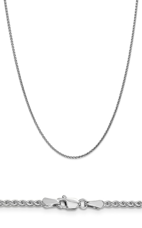14K 1.8mm Solid Diamond Cut Spiga Wheat Chain product image