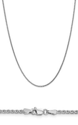 14K 1.8mm Solid Diamond Cut Spiga Wheat Chain PEN129-18 product image