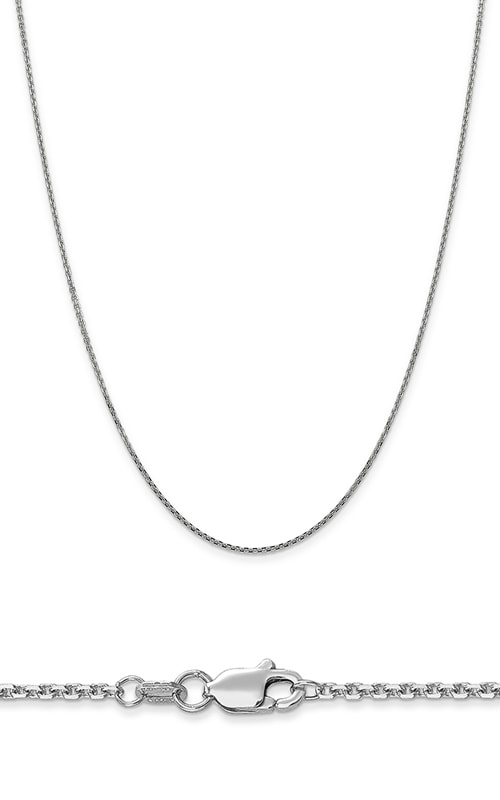 14K 1.3mm Solid Diamond Cut Cable Chain product image