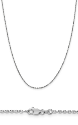 14K 1.65mm Solid Diamond Cut Cable Chain PEN149-18 product image