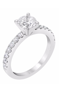 14K Classic Sidestone Engagement Ring R11209 product image
