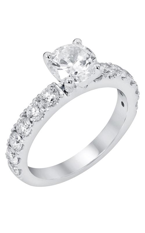 14K Classic Sidestone Engagement Ring R11260 product image