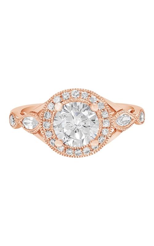 14K Vintage Style Diamond Halo Engagement Ring product image