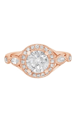 14K Vintage Style Diamond Engagement Ring With Halo BARON00028 product image