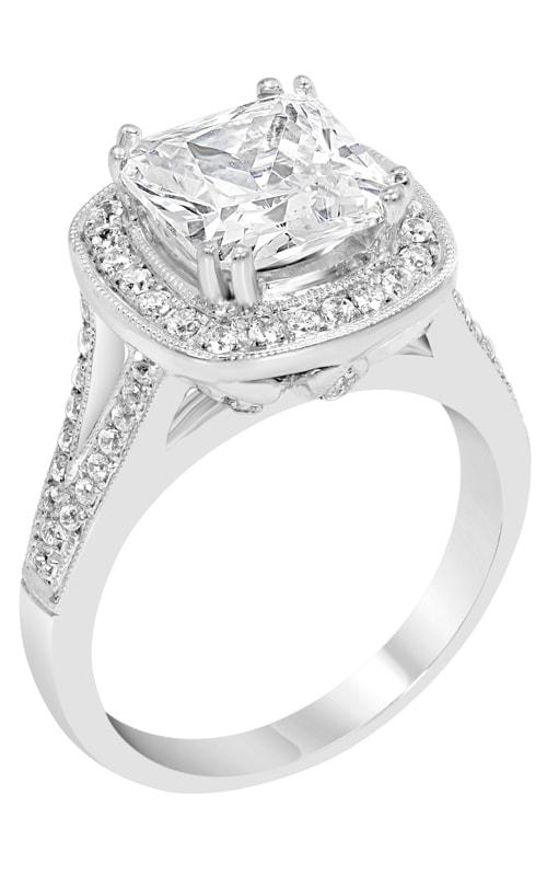 14K Split Shank Halo Engagement Ring R11434 product image