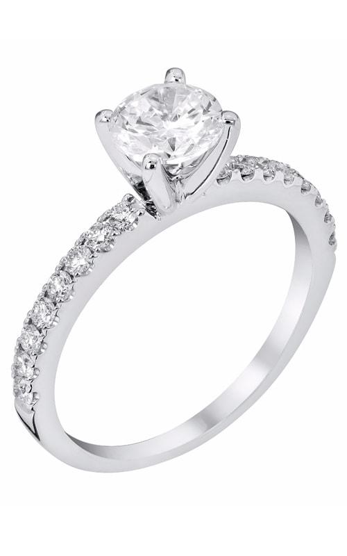 14K Classic Sidestone Engagement Ring R11455 product image