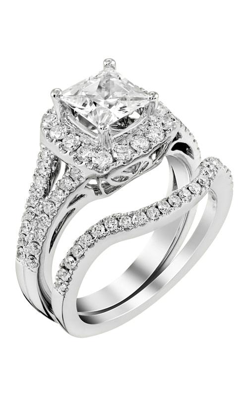 14K Gold Curved Diamond Band BARON01615 product image
