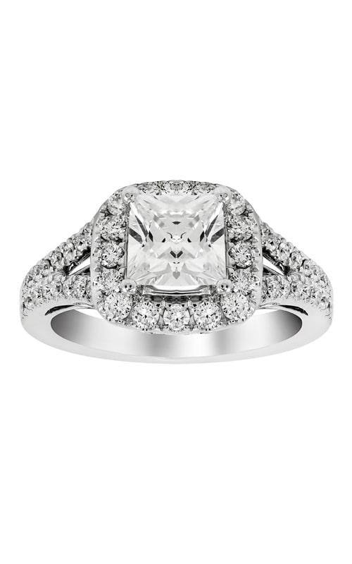 14K Split Shank Cushion Halo Engagement Ring BARON01624 product image