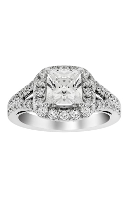 14K Split Shank Cushion Halo Engagement Ring BARON01624 product image