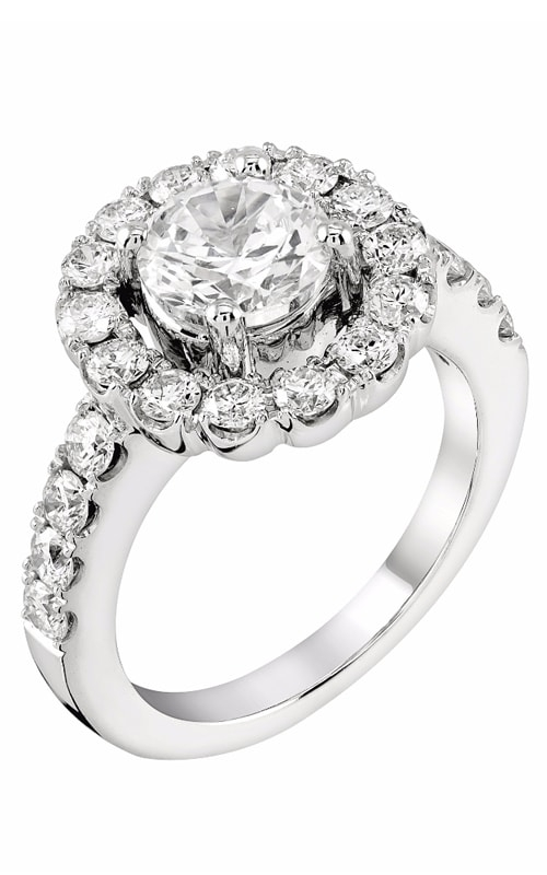 14K Round Halo Engagement Ring R11603 product image