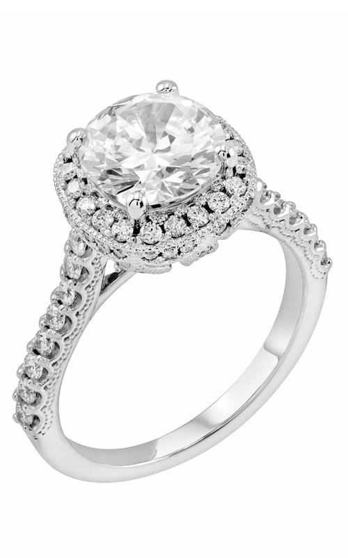 14K Cushion Halo Engagement Ring R11721 product image