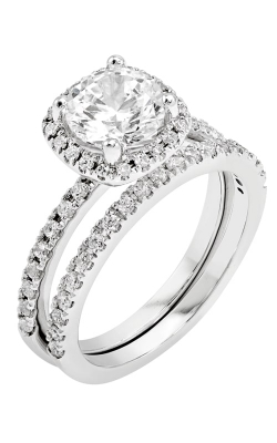 14K White Gold Diamond Band BARON01651 product image