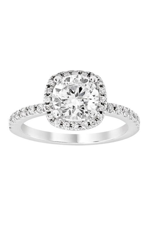 14K Cushion Halo Diamond Engagement Ring BARON01660 product image