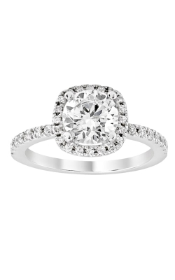 14K Cushion Halo Diamond Engagement Ring BARON01660 product image