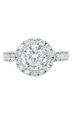 14K Two-Tone Vintage Style Diamond Halo Engagement Ring BARON00037 product image
