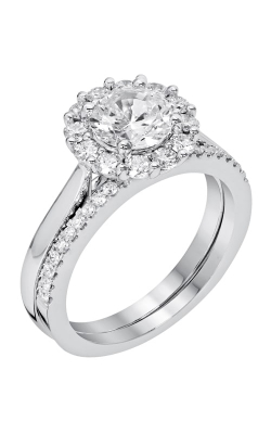 14K White Gold Diamond Band BARON00055 product image