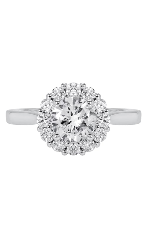 14K Classic Diamond Halo Engagement Ring product image