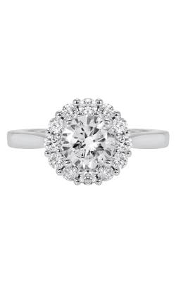 14K Classic Diamond Halo Engagement Ring BARON00064 product image
