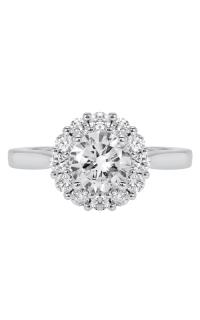 14K Classic Diamond Halo Engagement Ring BARON00064 product image