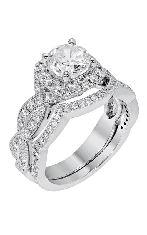 14K Modern Curved Diamond Band BARON01697 product image