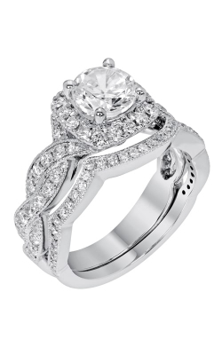 14K Modern Curved Diamond Band BARON01697 product image