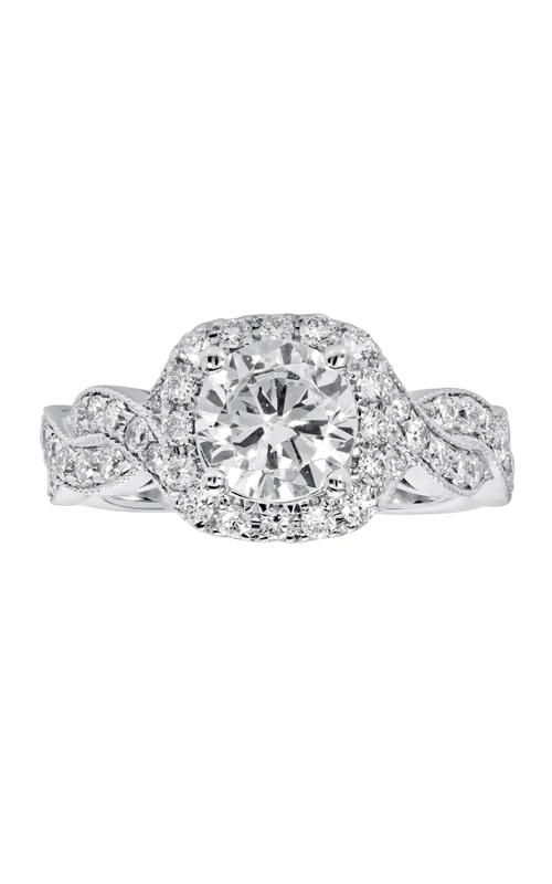 14K Cushion Halo Diamond Infinity Engagement Ring BARON01704 product image