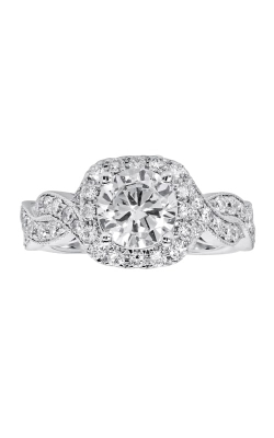 14K Cushion Halo Diamond Infinity Engagement Ring BARON01704 product image
