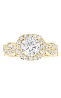 14K Cushion Halo Diamond Infinity Engagement Ring BARON01704-Y product image