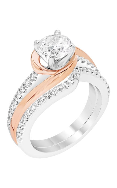 14K Gold Curved Diamond Band BARON01722 product image