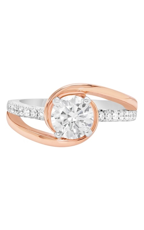 14K Modern Two-Tone Bypass Engagement Ring BARON01713 product image