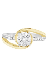 14K Modern Two-Tone Bypass Engagement Ring BARON01713-YW product image