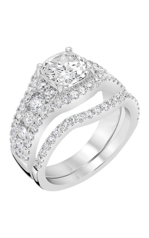 14K Gold Curved Diamond Band BARON01731 product image