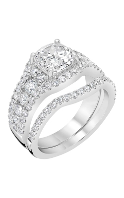 14K Gold Curved Diamond Band BARON01731 product image