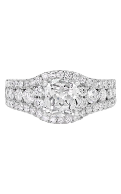 14K Cushion Halo Diamond Engagement Ring BARON01740 product image