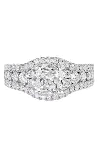 14K Cushion Halo Diamond Engagement Ring BARON01740 product image