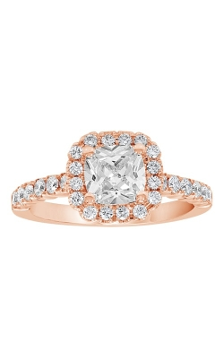 14K Cushion Halo Diamond Engagement Ring BARON00082 product image