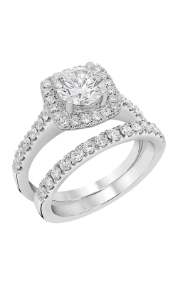 14K White Gold Diamond Band BARON00091 product image