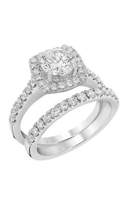 14K White Gold Diamond Band BARON00091 product image