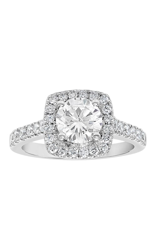 14K Cushion Halo Diamond Engagement Ring product image
