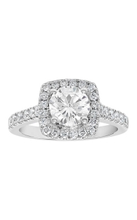 14K Cushion Halo Diamond Engagement Ring BARON00109 product image
