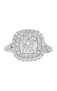 14K Double Cushion Halo Diamond Engagement Ring BARON00125 product image