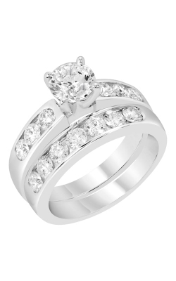 14K Channel Set Diamond Wedding Band BARON00232 product image