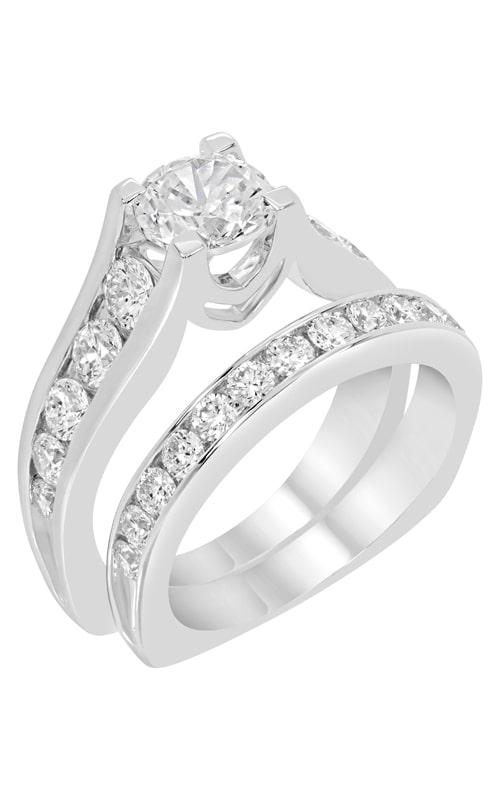 14K Channel Set Diamond Wedding Band BARON00257 product image