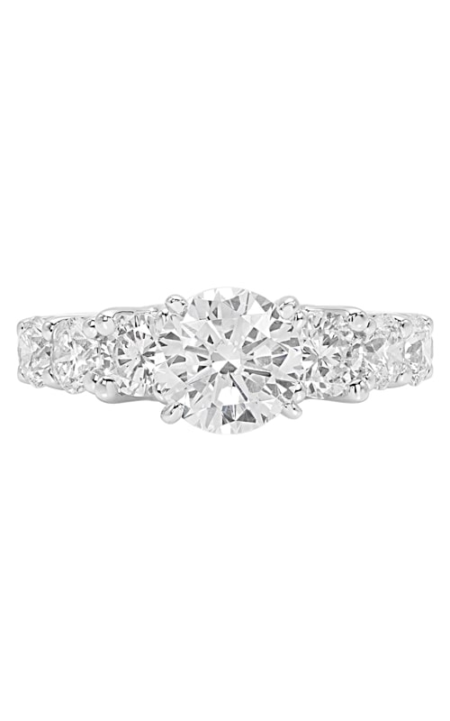 14K Three Stone Modern Engagement Ring BARON00281 product image