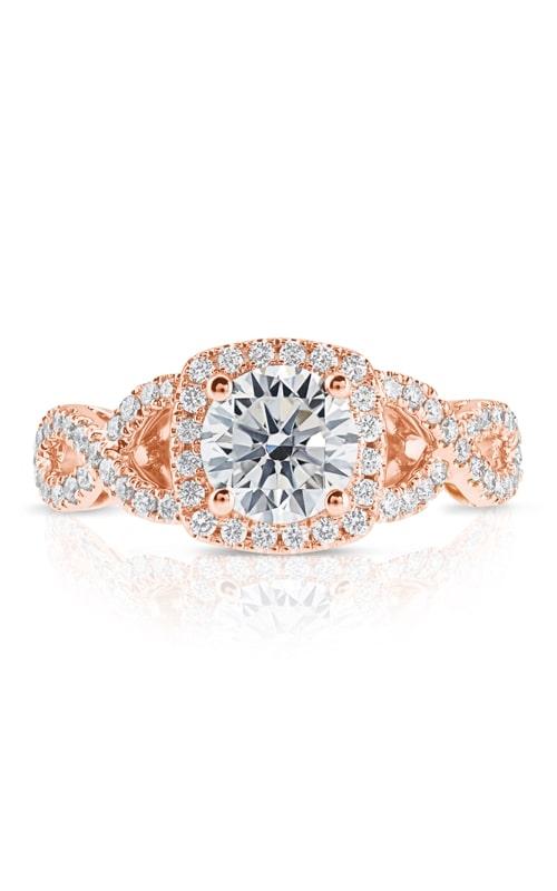 14K Cushion Halo Diamond Infinity Engagement Ring BARON00323 product image