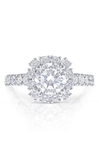14K Cushion Halo Two-Tone Engagement Ring BARON01759 product image