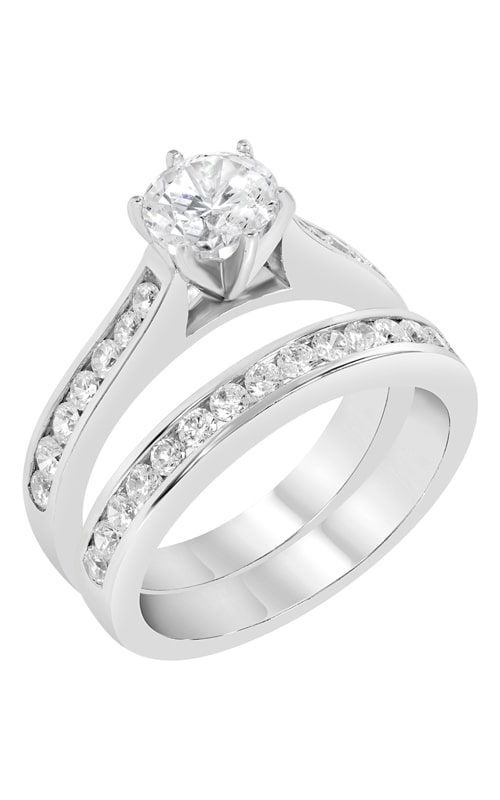 14K Channel Set Diamond Wedding Band BARON00919 product image